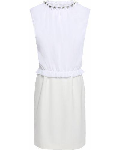 Белая блузка стрейч из крепа Boutique Moschino