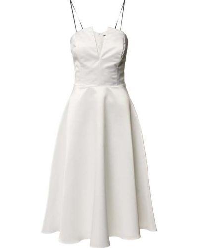 Biała sukienka z dekoltem w serek Swing
