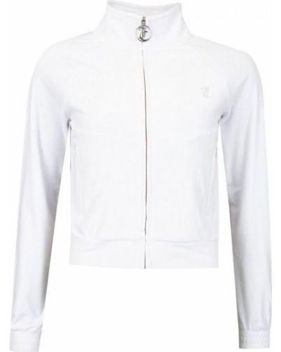Biała koszulka z długimi rękawami Juicy Couture