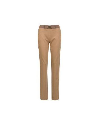 Летние брюки из вискозы бежевый Moschino Love