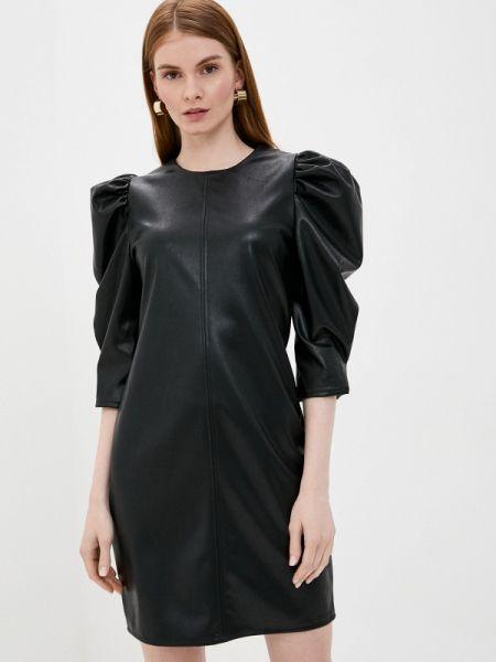Черное кожаное платье Tantra