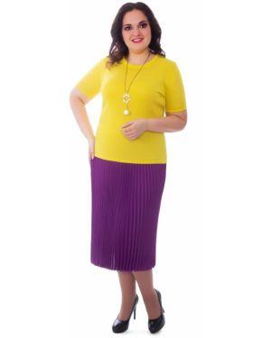Плиссированная юбка на резинке с поясом Wisell