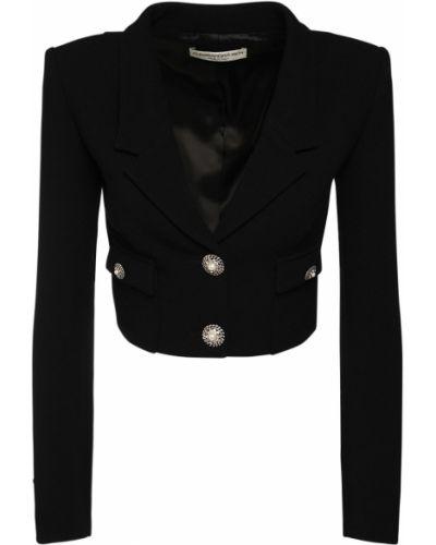 Черная куртка на кнопках с карманами Alessandra Rich