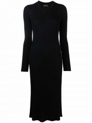 Трикотажное платье миди - черное Roberto Collina