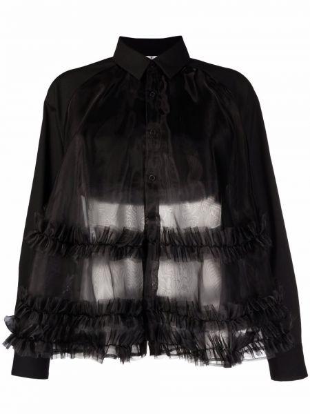 Рубашка с длинным рукавом - черная Comme Des Garçons Noir Kei Ninomiya