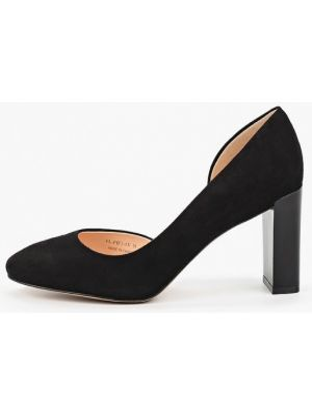 Туфли черные велюровые Pazolini