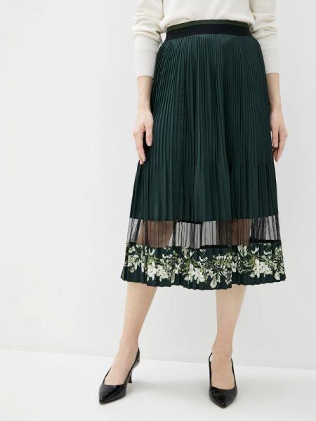 Плиссированная юбка весенняя зеленый Ted Baker London