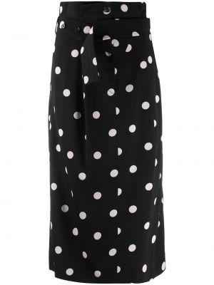 Черная юбка на пуговицах в горошек Paul Smith