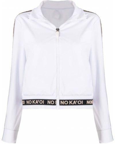 Белая спортивная куртка на молнии с воротником No Ka 'oi
