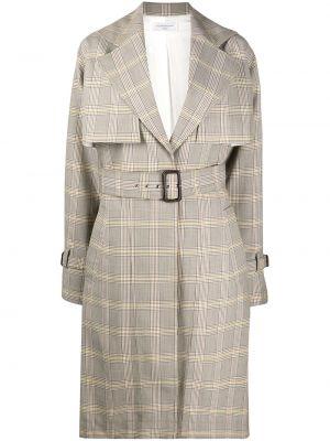 Wełniany długi płaszcz z kieszeniami z klapami z długimi rękawami Victoria Beckham