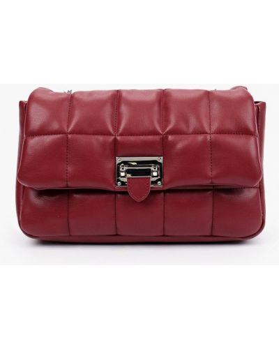 Бордовая кожаная сумка через плечо Lolli L Polli