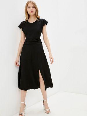 Прямое черное платье А-силуэта Adl