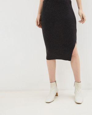 Облегающее платье осеннее серое B.young
