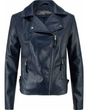 Кожаная куртка байкерская на молнии Bonprix