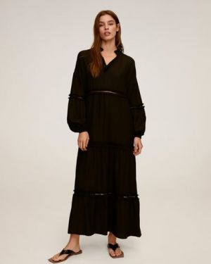 Платье с вышивкой с перфорацией Mango