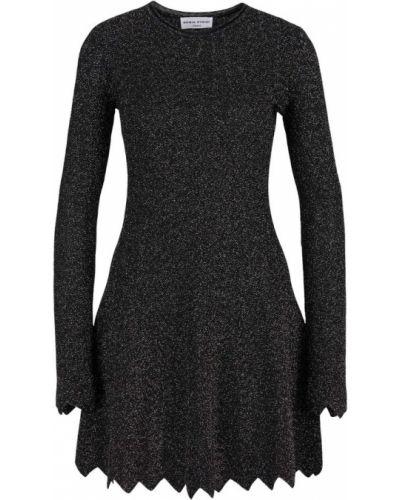 Prążkowana sukienka rozkloszowana z długimi rękawami Sonia Rykiel