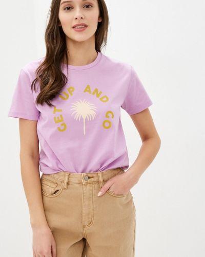 Фиолетовая с рукавами футболка Scotch&soda