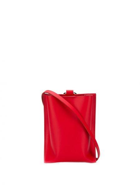 Красная сумка через плечо с перьями Venczel