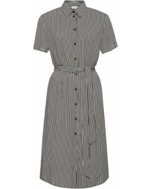 Платье с поясом на пуговицах с разрезами по бокам Bonprix