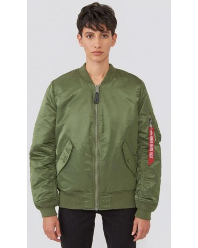 Утепленная куртка весенняя зеленая Alpha Industries