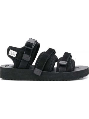 Сандалии на каблуке - черные Suicoke