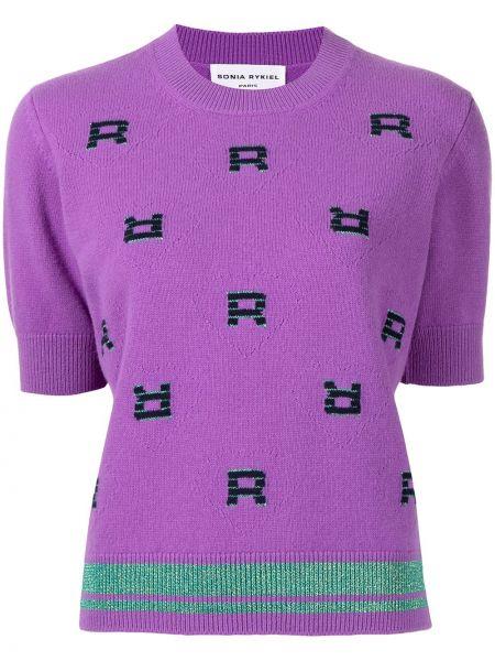 Пуловер с вырезом - фиолетовый Sonia Rykiel