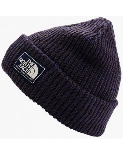 Фиолетовая шапка осенняя The North Face