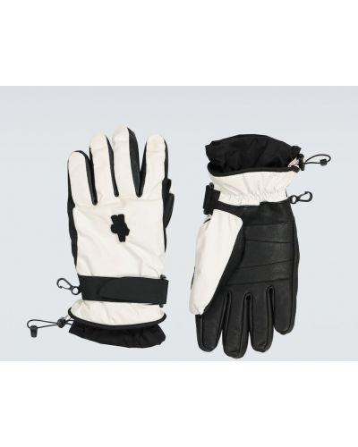 Czarne rękawiczki skorzane Moncler Genius