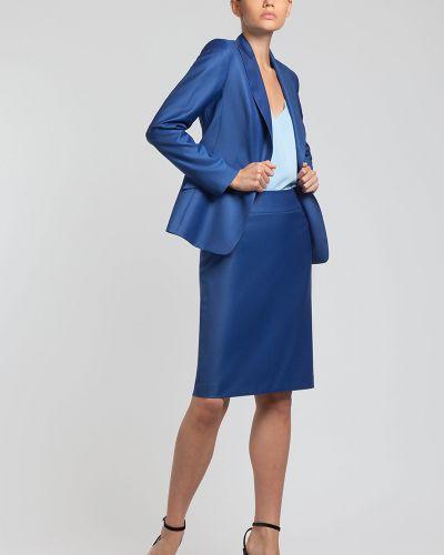 Юбка зауженная синяя Vassa&co