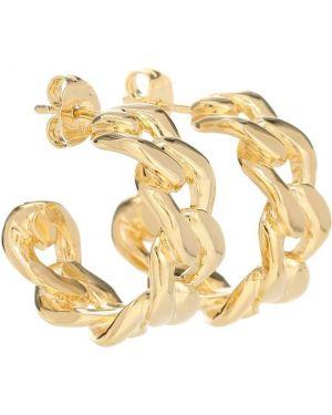 Złoty kolczyki ze złota Maison Margiela