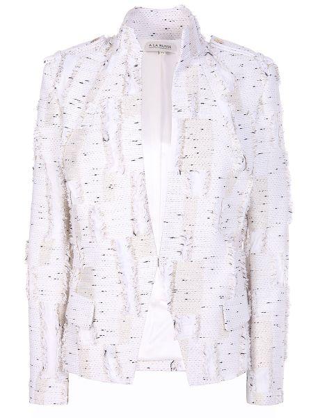 Пиджак с воротником с карманами из вискозы с бахромой A La Russe
