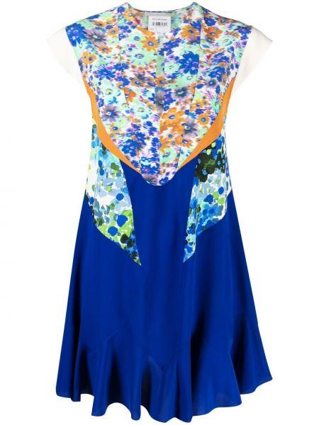 Платье в цветочный принт - синее Stella Mccartney