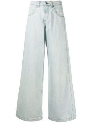 Синие с завышенной талией широкие джинсы с карманами SociÉtÉ Anonyme