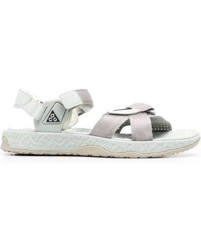 Sandały peep toe - białe Nike