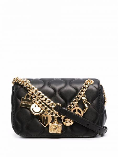 Черная сумка на цепочке Moschino