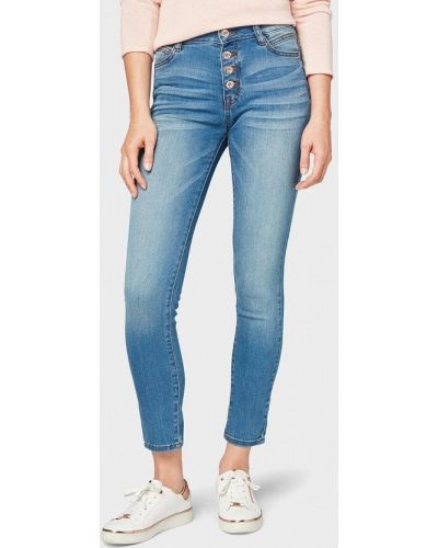 Голубые джинсы-скинни Tom Tailor