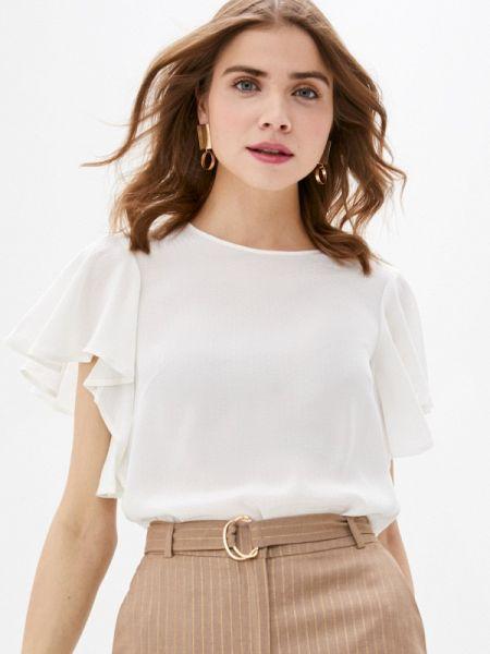 Блузка с коротким рукавом белая весенний Lusio