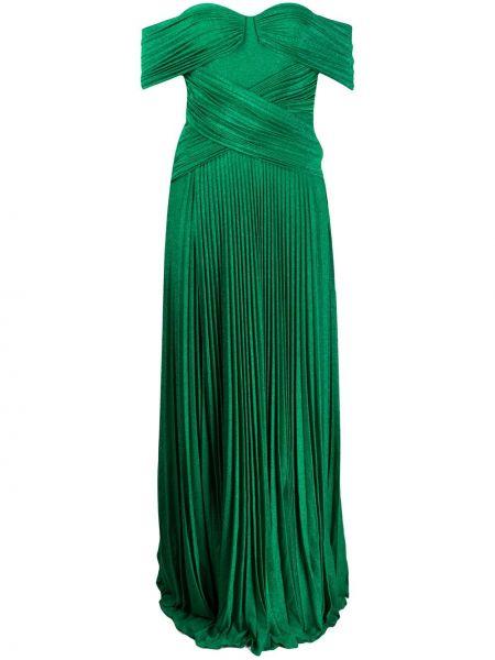 Платье плиссированное с открытыми плечами Elisabetta Franchi