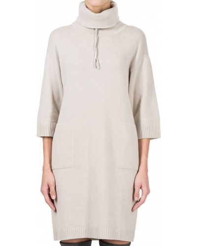 Шелковое платье - бежевое Peserico
