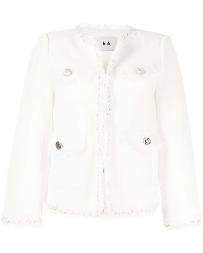 Пиджак твидовый - белый B+ab
