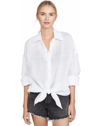 Платье рубашка - белое Vitamin A