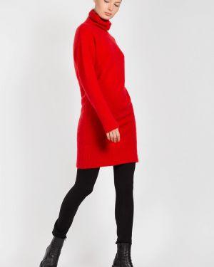 Платье красный шерстяное Vassa&co