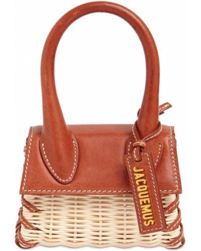 Кожаная сумка - коричневая Jacquemus