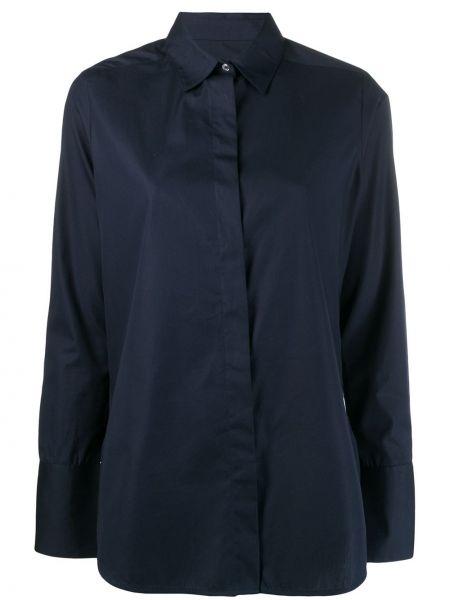 Синяя прямая классическая рубашка с воротником на пуговицах Frenken