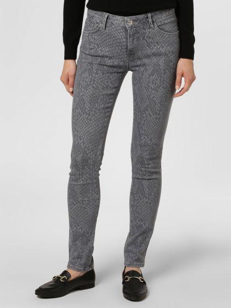 Szare jeansy z printem Mavi