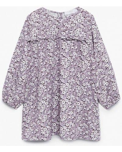 Повседневное фиолетовое платье Mango Kids