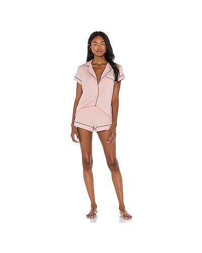 Пижамный розовый купальник с поясом Eberjey