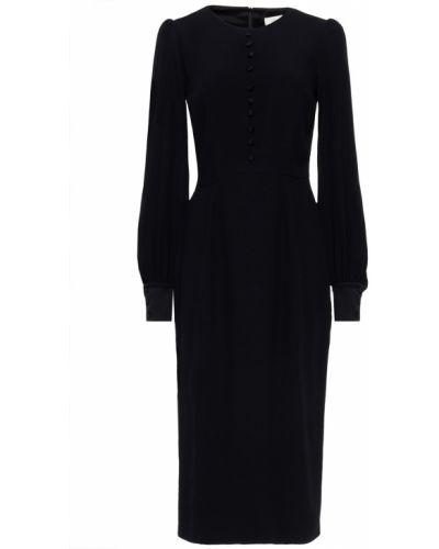 Платье миди на пуговицах - черное Goat