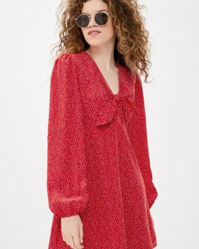 Прямое красное джинсовое платье Guess Jeans