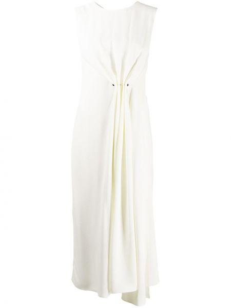 Асимметричное платье миди без рукавов с вырезом на молнии Victoria Beckham
